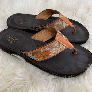 🌛Coach🌛 wedge flip flops